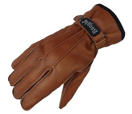 cb3e781eca202 5510 Bangla Leder Winter Handschuhe Herren warm gefüttert Braun S - XXL