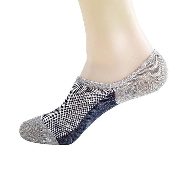 OPAKY Mujer Hombre Calcetines Trabajo informal Negocio Algodón Corte Moda Calcetín Cómodo Calcetines Cortos Sneaker de deporte para Mujer Hombre Ideal para ...