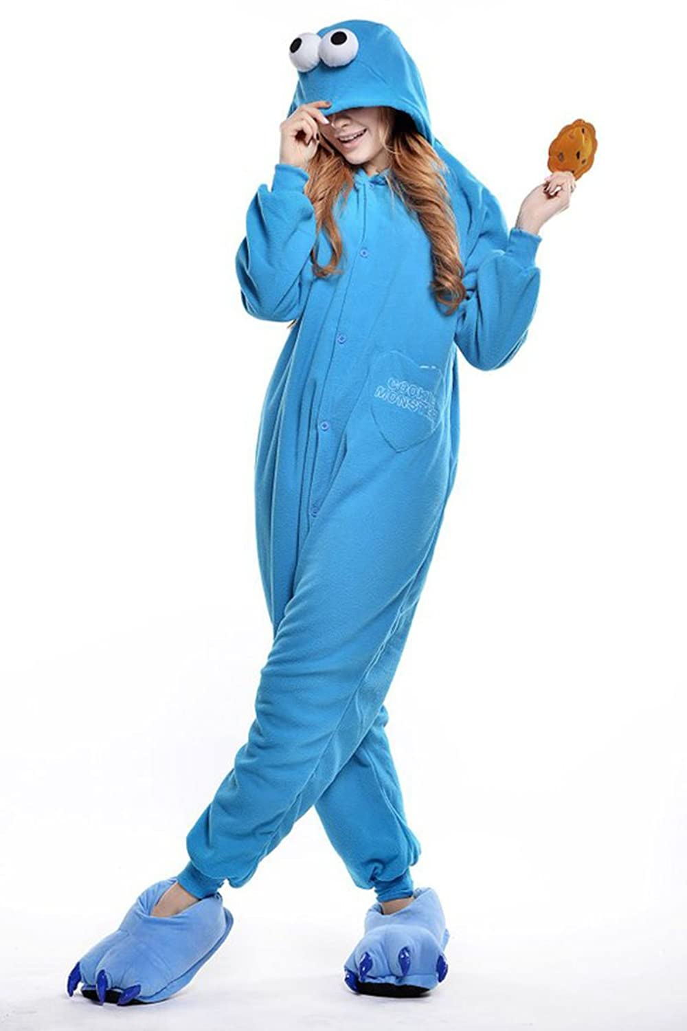 amazon com superlieu cookie monster kigurumi pajamas anime