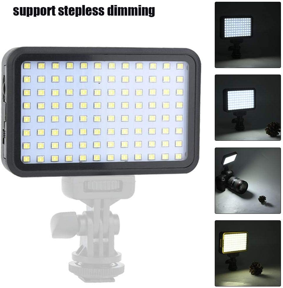 US 3200-6000K Professional Video Light with NP-F550 Battery Charger for Macro Photography News Interview etc Product Shooting Video Mugast 160pcs Video LED Light