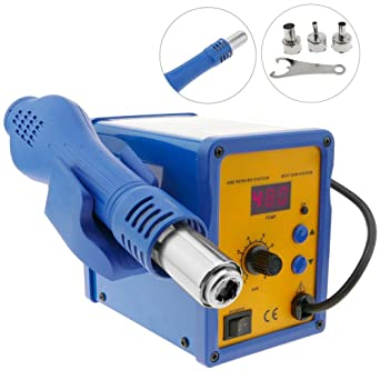 Cablematic - Estación de soldadura de aire caliente modelo BEST 858D+