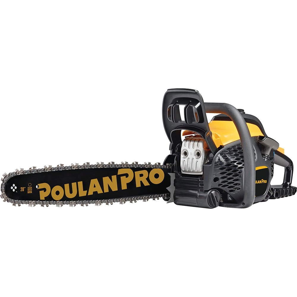 Poulan Pro 967061501 50cc 2 Stroke Gas Powered Chain Saw with Carrying Case, 20 20