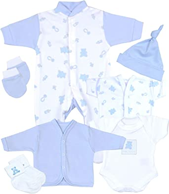Babyprem Bebé Prematuro Juego de Regalo 7 Piezas Pijama Body Ropa Algodón Niña Niño 32-50cm: Amazon.es: Ropa y accesorios