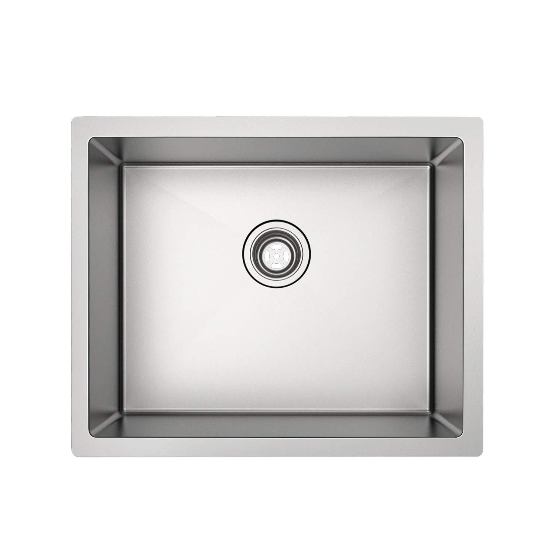 MENSARJOR 23'' x 18'' Single Bowl Kitchen Sink 16 Gauge Undermount Stainless Steel Kitchen Sink, Bar or Prep Kitchen sink
