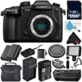 Panasonic Lumix DC-GH5 Mirrorless Micro Four Thirds Digital Camera (Body Only) + Panasonic DMW-BGGH5 Battery Grip (International Version) + 128GB Class 10 Memory Card Bundle