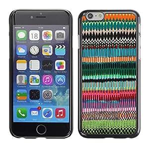 FECELL CITY // Duro Aluminio Pegatina PC Caso decorativo Funda Carcasa de Protección para Apple Iphone 6 Plus 5.5 // Random Art Pattern Chevron