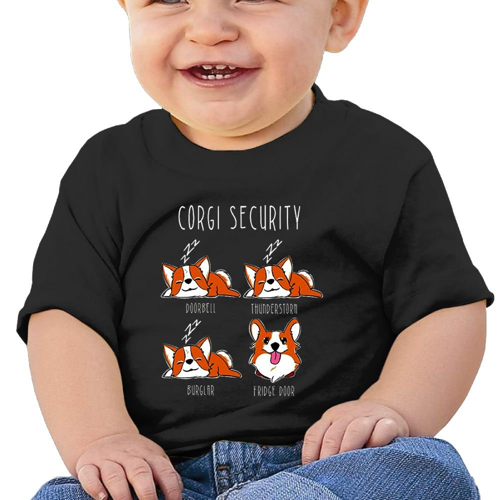 REBELN Corgi Security Cotton Short Sleeve T Shirts For Baby Toddler Infant