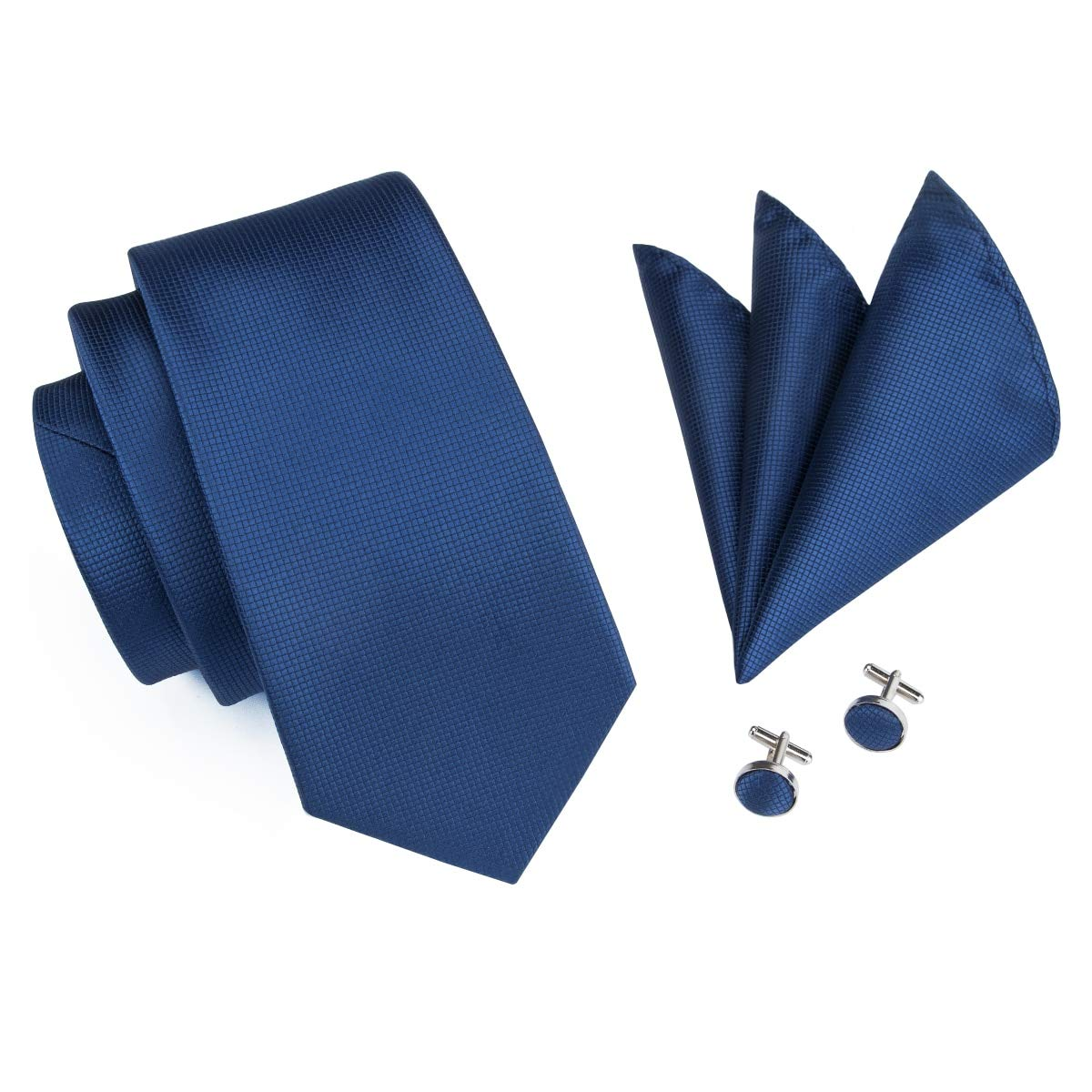 Corbata Azul Para Hombres Corbatas Tejidas De Seda Conjunto De ...