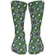 Belize Flag Artascope Flower Ankle Socks Crew Socks Sports Socks Perfect Novelty Gift Idea For Hiking Running Travel Bodybuilding Leisure