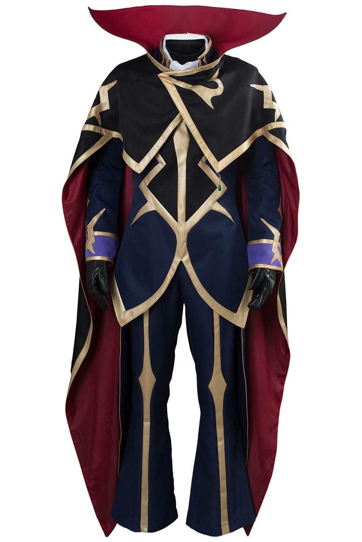 Blau Maßanfertigung Karnestore Code Geass  Lelouch of The Resurrection Season 3 Zero Dress Suit Uniform Maßanfertigung
