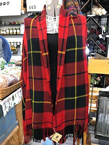 Hand-Woven Wallace Tartan Wrap by A Wee Bit Warped