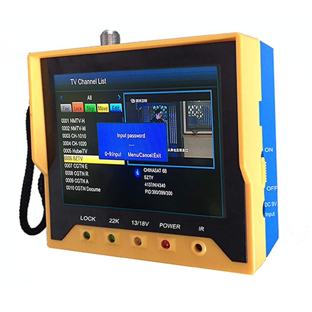 Satellite Finder, KKmoon KPT-356H 3.5 Inch Handheld Multifunctional DVB-S/S2 Satellite Finder Fast Tracking Full HD Digital Satellite TV Receiver Finder Meter MPEG4 Modulator with Remote Control