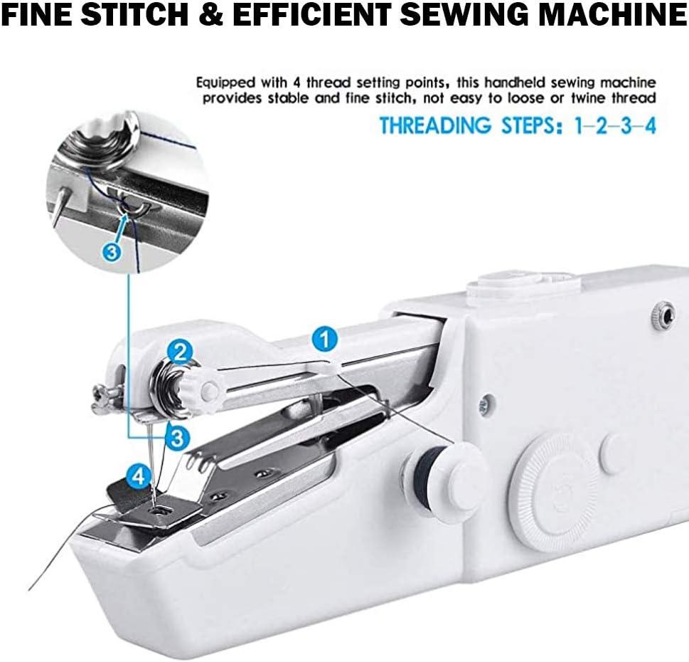 EEX Mini Portátil Máquina de Coser de Mano Eléctrica Inalámbrica para Niños Principiantes Costura Doméstica o de ...