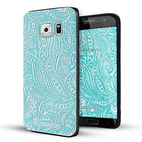 Samsung Galaxy S6 Edge case,Lizimandu soft TPU textured pattern Case for Samsung Galaxy S6 Edge(Spiral) - Edge Spiral