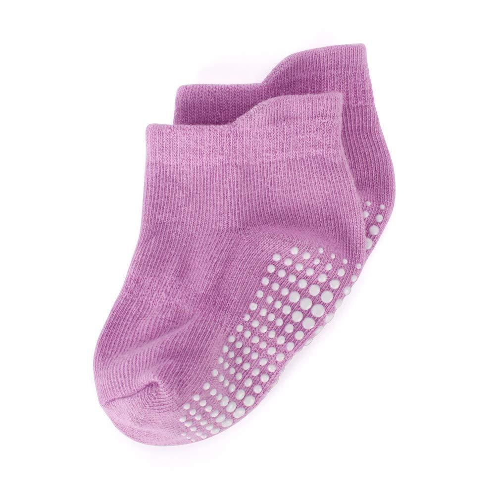 LACOFIA 6 Paare Baby Jungen M/ädchen Rutschfeste S/öckchen Set Kleinkind Atmungsaktiv Baumwolle Boden Socken mit Griffen