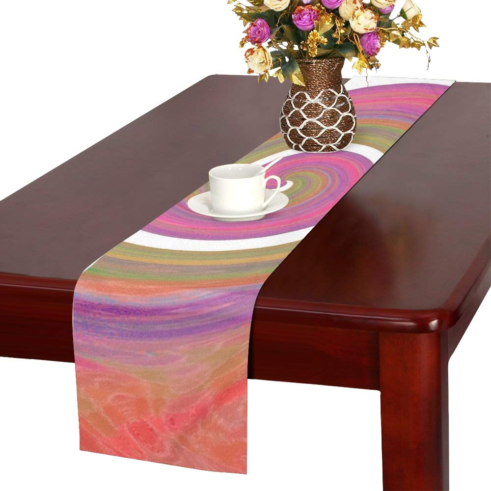 Eddy Color Texture Structure Abstract Table Runner, Kitchen Dining Table Runner 16 X 72 Inch For Dinner Parties, Events, Decor