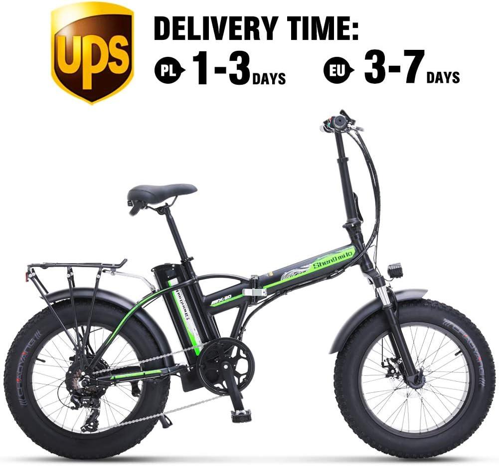 Shengmilo Bicicleta Eléctrica, Bicicleta Eléctrica Plegable, Fat ...