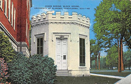 Tuscaloosa Alabama University of Alabama Jason Shrine Antique Postcard - Tuscaloosa Stores