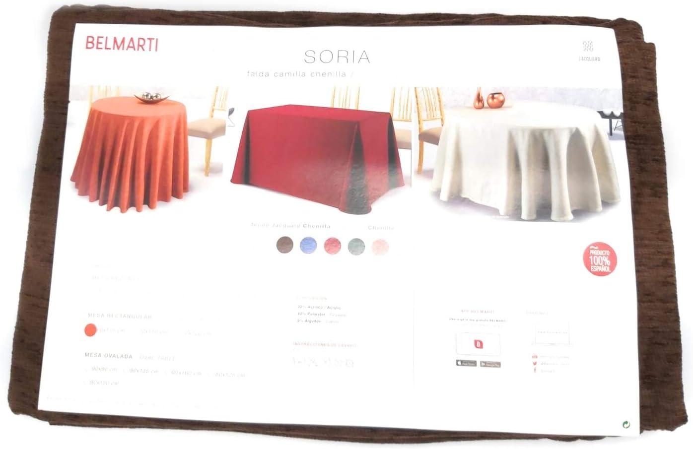 BELMARTI Texturas Home - Falda Mesa Camilla Invierno Chenilla ...