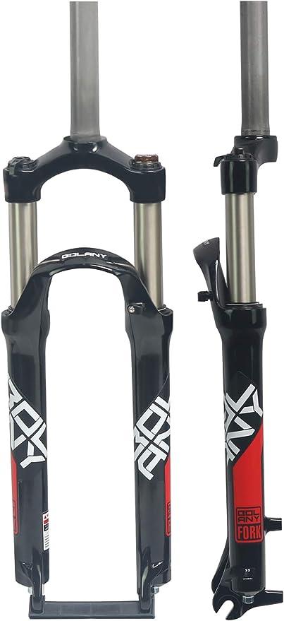 LIDAUTO Horquilla de Bicicleta Bicicleta de montaña Cuesta Abajo Ajuste de amortiguación de Horquillas de presión de Aceite Aleación de Aluminio 24 Pulgadas 28.6MM: Amazon.es: Deportes y aire libre