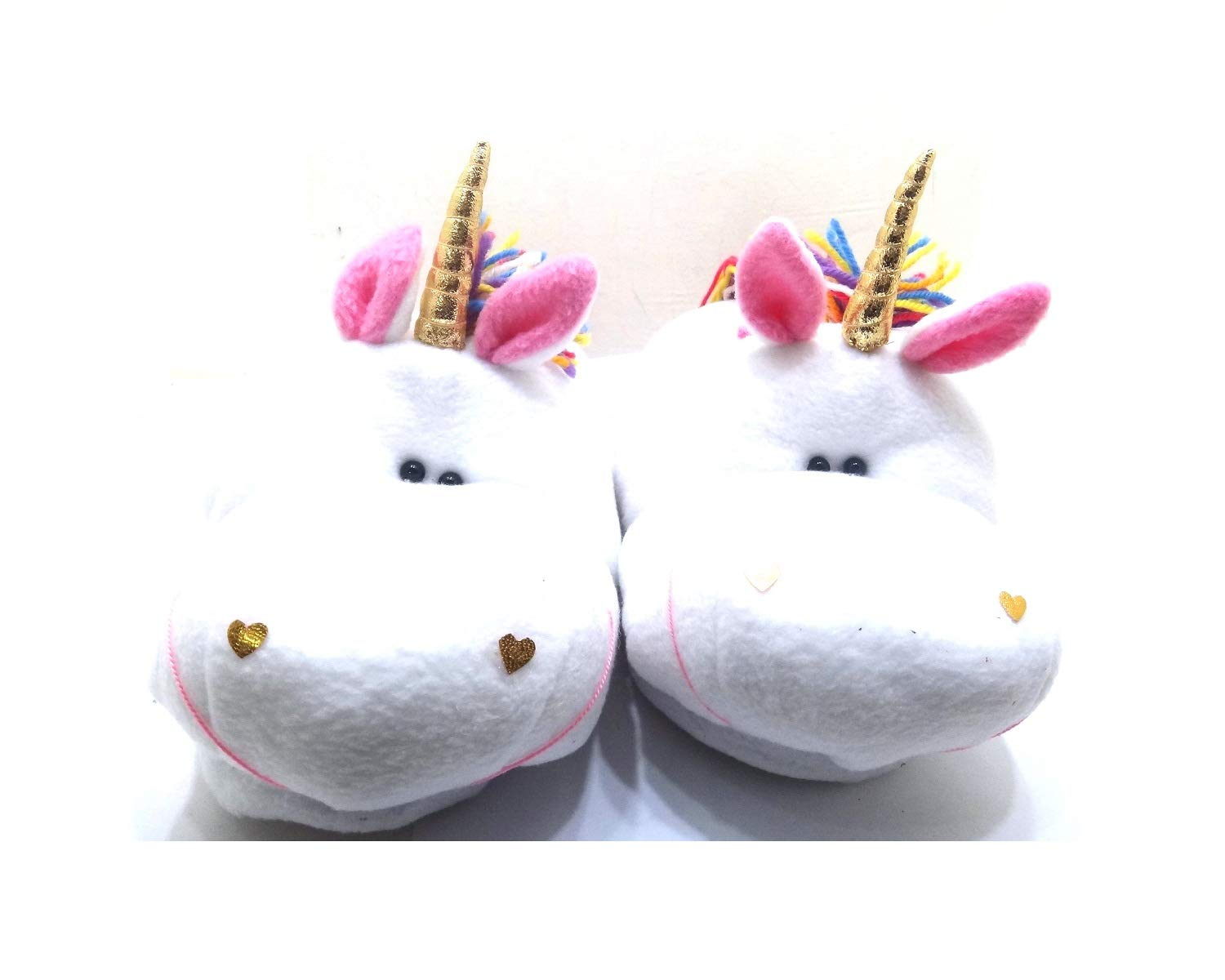 GSC Moda 3D Unisex Cute Unicorn Adult Toddler Kids Slippers Shoes Boy Girl Plush Soft Bedroom Indoor House