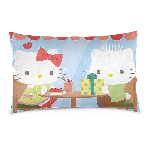 CHLING Fundas de Almohada Hello Kitty con Fundas de cojín ...
