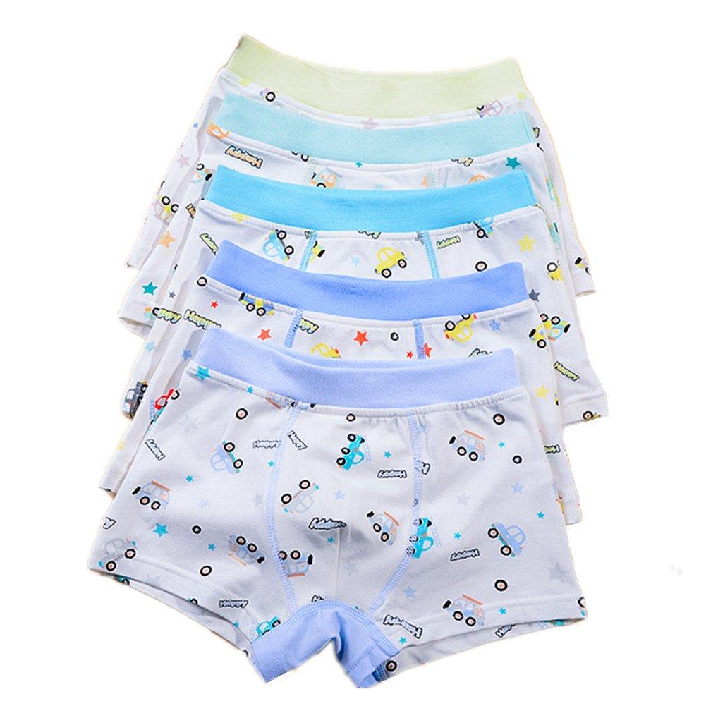 Boys 5 Pack Comfort Soft Boxer Brief Cotton Underwear (2-4 years, Car)