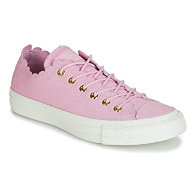 255600e8acd Converse Chuck Taylor All Star Ox Frilly Thrills Pink Foam Suede 5 M US  Women
