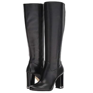 7476432f90ce Michael Kors MK Women s Knee High Tall Leather Walker Boots Shoes Black  (5.5 M US
