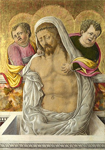 [polyster Canvas ,the Cheap but High quality Art Decorative Art Decorative Prints on Canvas of oil painting 'Giorgio Schiavone The Pieta ', 12 x 17 inch / 30 x 44 cm is best for Laundry Room gallery art and Home artwork and] (King Triton Costume Ideas)