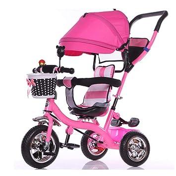 Carro Del Bebé Niños De Interior Y Al Aire Libre Pequeños Triciclo/7 Meses-Carretilla Del Bebé De 6 Años Con El Toldo,Pink: Amazon.es: Salud y cuidado ...