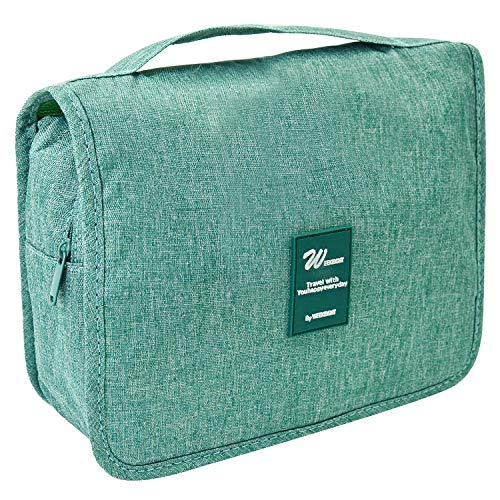 Hanging Toiletry Travel Bag - Portable Large Capacity Makeup Bag for Women and Men - Toiletry Kit, Cosmetic Bag - Light Green - Green Accessory Kit
