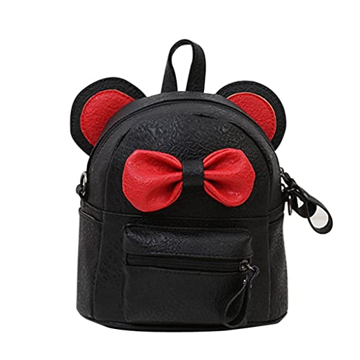 Image Unavailable. Image not available for. Color  Backpack Leather  Satchel,Rakkiss Bow Tie Women Trave Shoulder Bag Girl Leather School ... 46e82a4dff