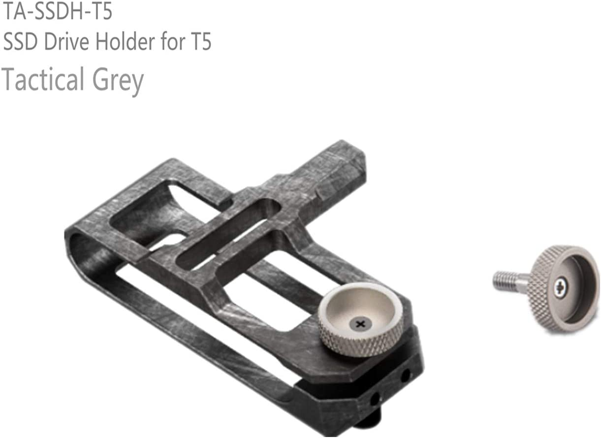 20cm Kit-Tactical Grey TILTA Quick Release Top Handle /&SSD Drive Holder for T5/&Half Sunhood/&90-Degree USB-C Cable