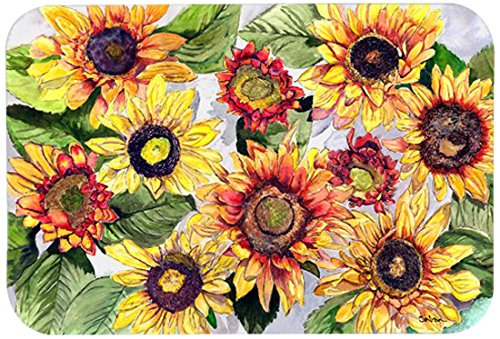 Carolines Treasures Sunflowers Kitchen or Bath Mat 24 by 36 Inch Multicolor