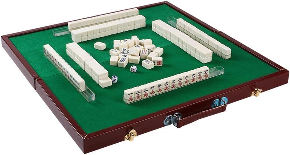 Juegos de Mesa Mahjong Establece Chino Mahjong Travel Mini Mahjong Card Party Casual Juegos De Mesa 144 Hojas Regalos (Color : Blanco, Size : 2.4cm): Amazon.es: Hogar