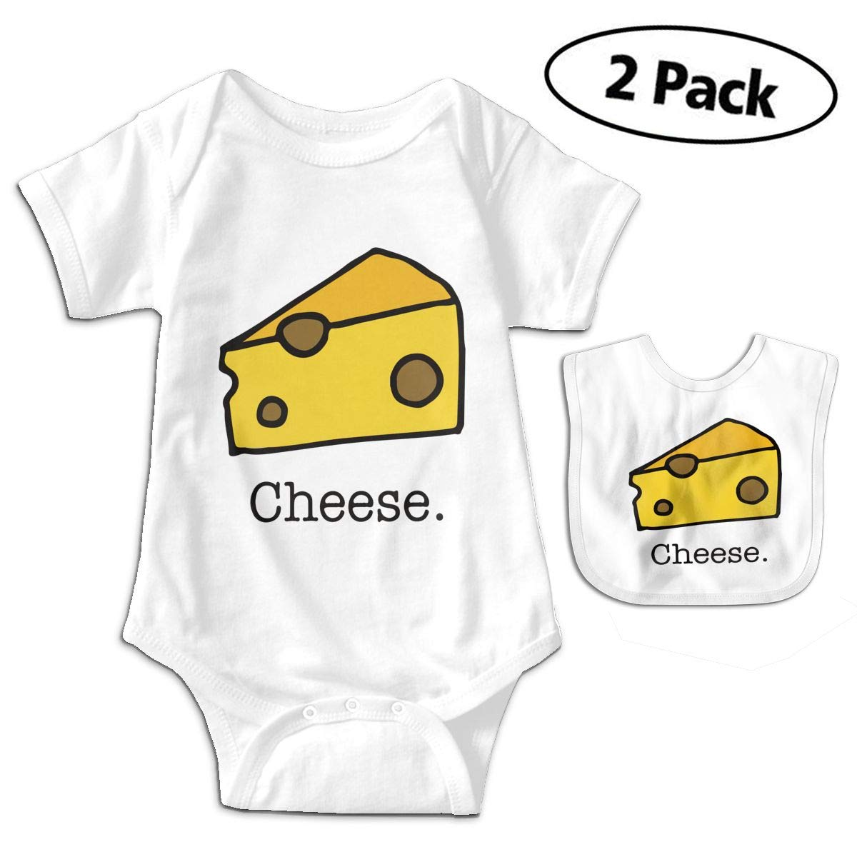Harataki Piece of Cheese Infant Baby Short Sleeve Romper Jumpsuit Bodysuit