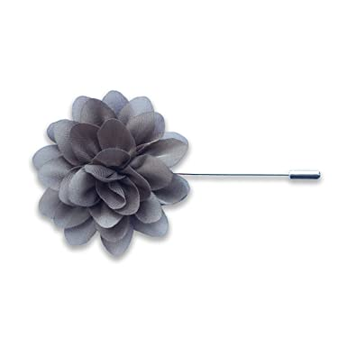Amazon grey silk flower lapel pin or boutonniere clothing grey silk flower lapel pin or boutonniere mightylinksfo