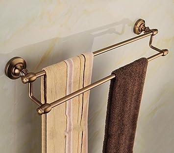 ZXY Estilo Europeo Baño Accesorios de Hardware Doble Barra Antiguo Toalla Rack Toalla Barra de baño Colgante: Amazon.es: Hogar