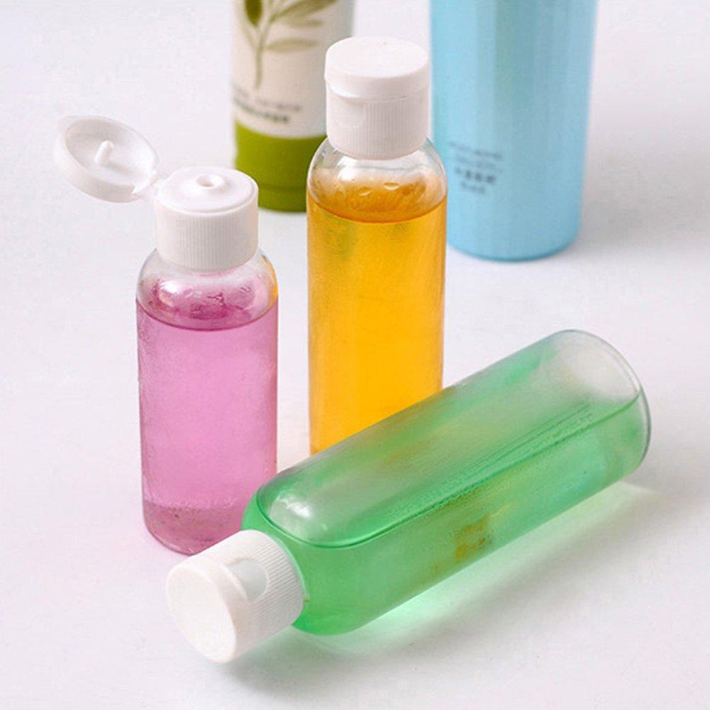 Beaupretty 20pcs Botellas de viaje de pl/ástico Porable tapa superior Recipiente de la botella de viaje para champ/ú art/ículos de tocador Loci/ón