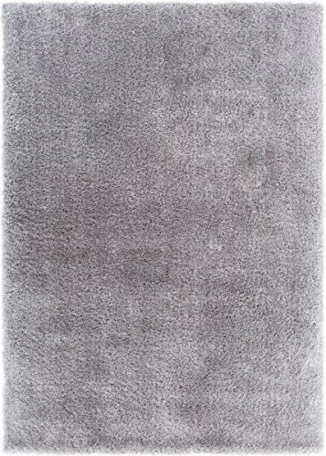 (Home Way Premium Quality Silver Super Thick Plush Shag Area Rug 7'10