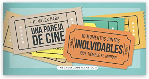 10 VALES PARA PAREJAS DE CINE (PACK DE VALES REGALO): Amazon.es: Hogar