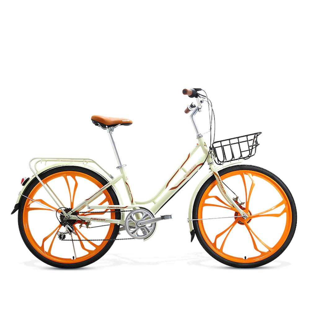 自転車、シティーバイク、26インチ7スピード高炭素鋼、アルミニウム合金二層カーサークル、電気メッキ後部フレーム、滑り止めタイヤ、ギフト自転車のターンシグナル   B07JCMX5CP