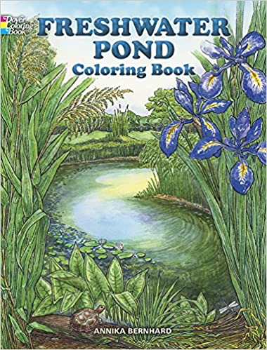 Freshwater Pond Coloring Book Dover Nature Coloring Book Amazon De