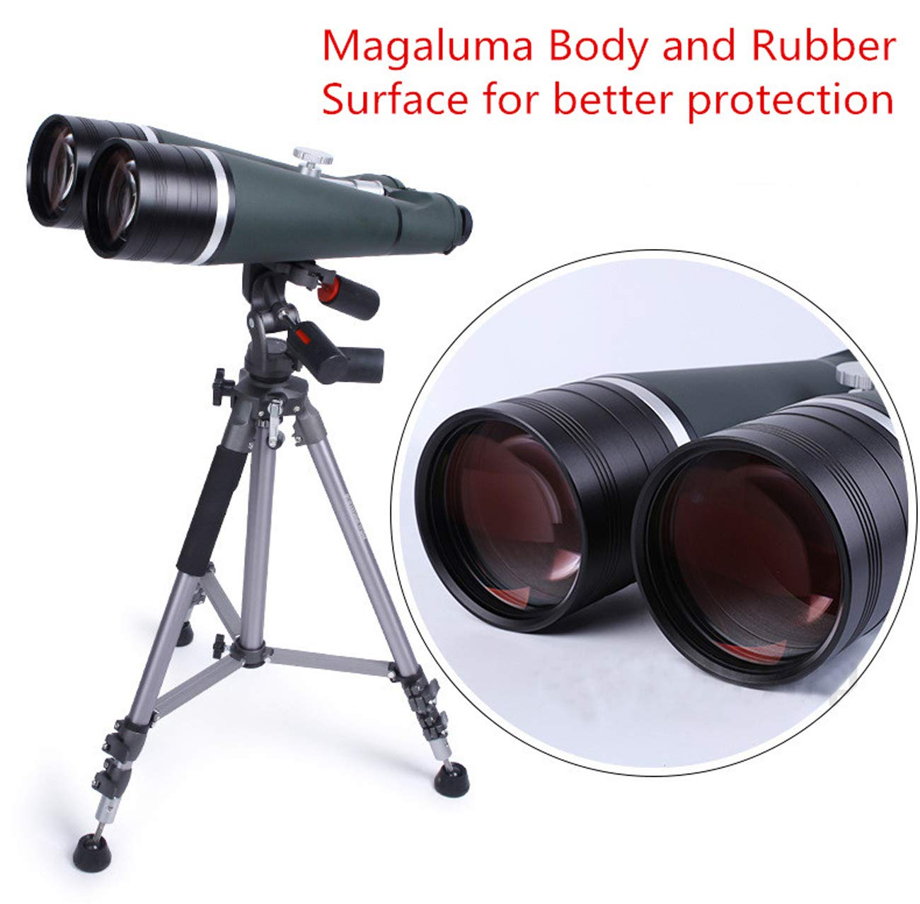 25X100 Binoculars Professional Astronomy Telescopes LLL Night Vision Waterproof Super HD Binocular with Aluminum Trunk