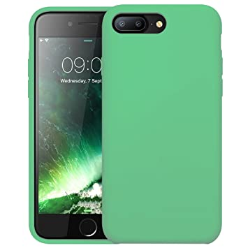 First2savvv verde Slim Fit Silicona iPhone 7plus 5.5 Choque Absorbente Funda Carcasa Case Bumper con Absorción de Impactos Case Cover - ...