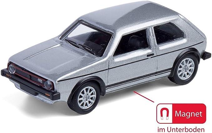Corpus Delicti Magnetische Mini Pinnwand Mit Modellauto Für Alle Auto Und Oldtimerfans Kultauto Vw Golf I Gti Silber Küche Haushalt