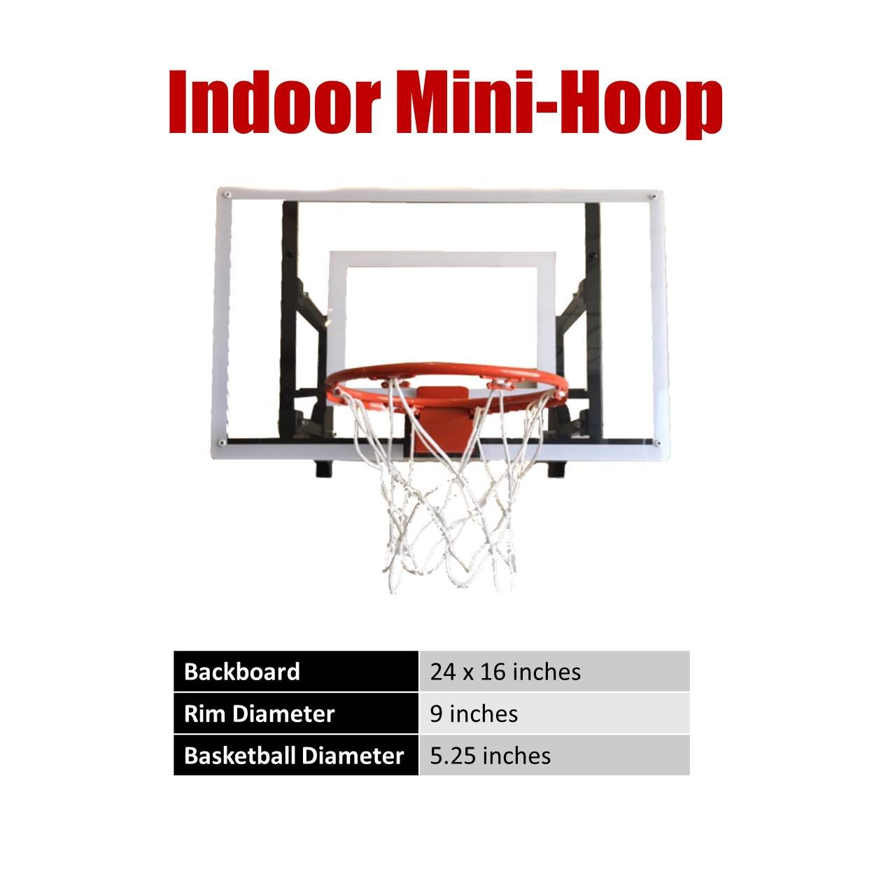 Amazon Com Ramgoal Durable Adjustable Indoor Mini Basketball Hoop