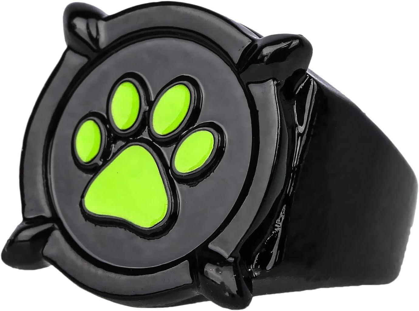 Mesky EU Anillo de Negro Gato Ring Cat Noir Miraculous Ladybug 3D ...
