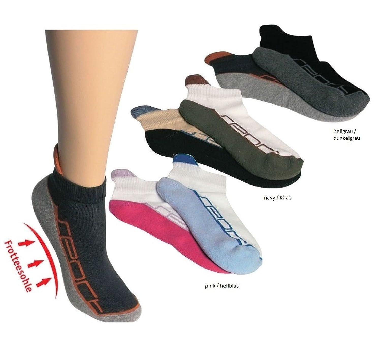 4 Paar Unisex Sneaker-Socken Sportsocken Freizeitsocken Gr. 39-42, 43-46